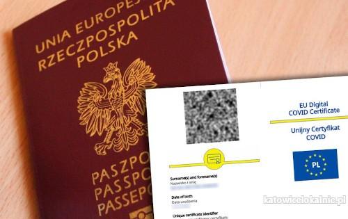 Paszport covidowy. Unijny Certyfikat Covid, UCC, Negatywny test Covid